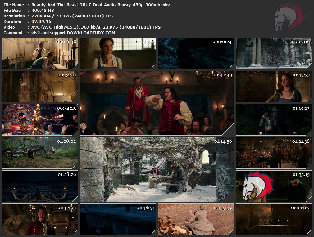 beauty and the beast movie download in 480p
