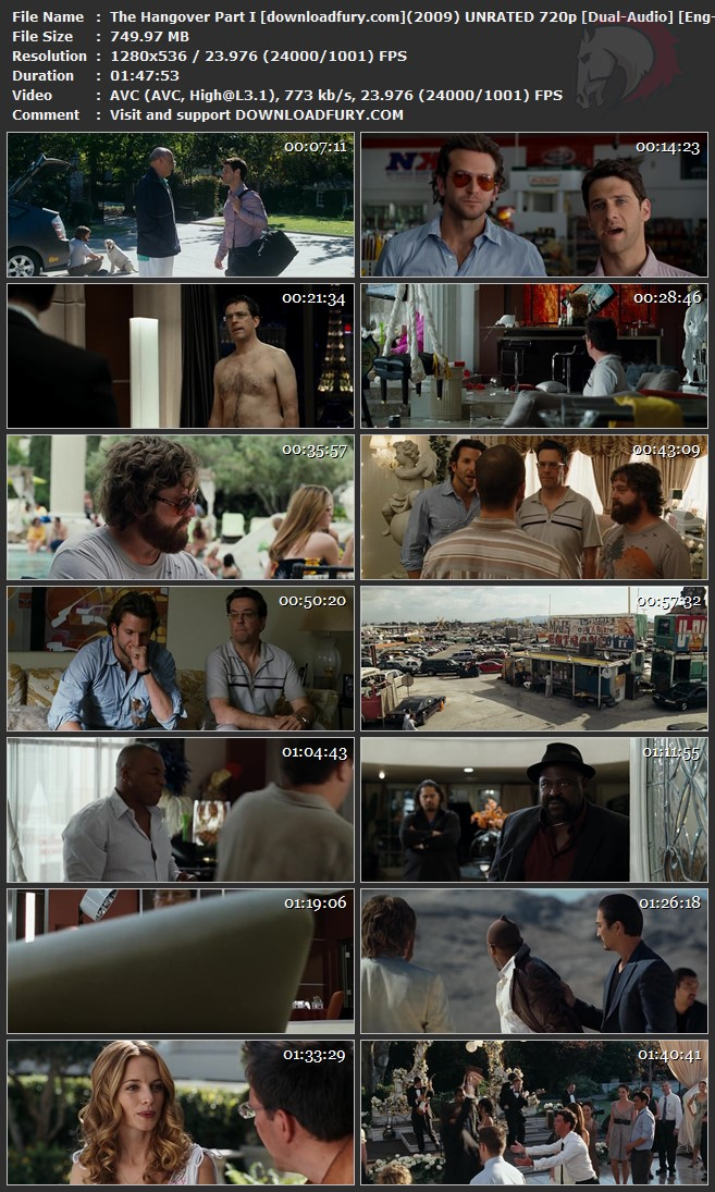 The Hangover Part 1 2009 Dual Audio 720p Bluray 700mb