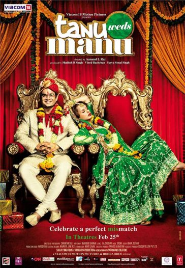 Download Tanu Weds Manu 2011 Hindi 480p BRRip 300MB