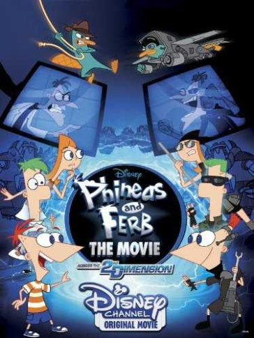 Download Phineas and Ferb the Movie Across the 2nd Dimension 2011 480p BDRip Dual Audio 300MB